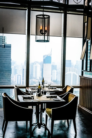 epicurean: modern contemporary High class fine dining restaurant interior