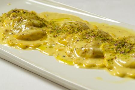 entrees: Italian ravioli with cheese
