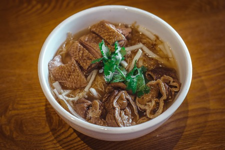 Mee Sua Rice vermicelli with Stewed Duck and Stewed Pig Intestine