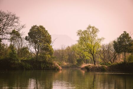 a scene from Xixi Wetland Marshes in hangzhou in China
