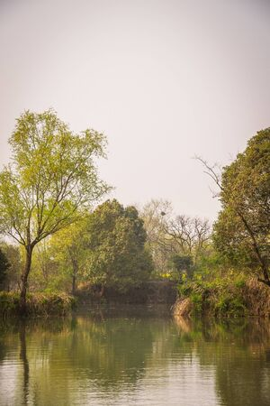 a scene from Xixi Wetland Marshes in hangzhou in China Stock Photo