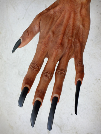 adult indonesia: A traditional Balinese Baris dancer displays his abnormally long, natural fingernails