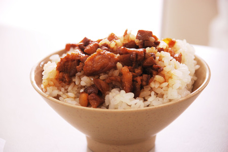 Taiwanese style rice with soy sauce, Lu Rou Fan