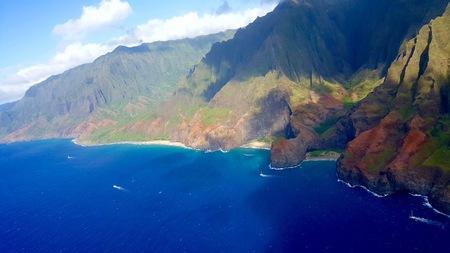hawaii tour, aerial shot,Na pali coast