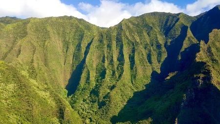 hawaii tour, aerial shot,Na pali