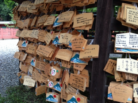 wishlist: This photo was taken in one of japans shrine. Each wooden piece contains hand written messages and prayers..