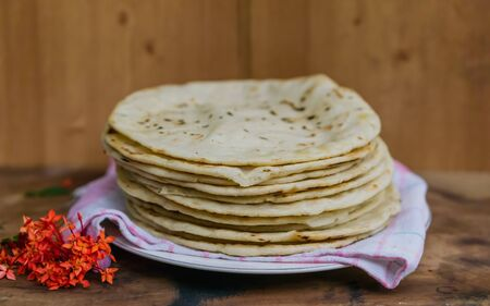 The final result of handmade webbed tortillas