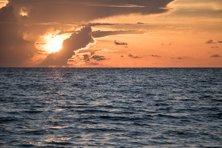 Gulf of Mexico at sunset Imagens