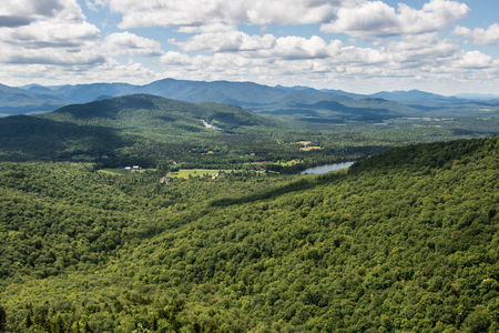 View of the Keene Valley region in New York