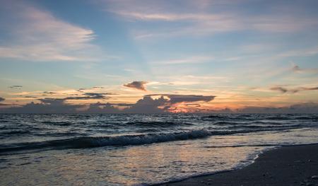 Calming Florida beach at sunset