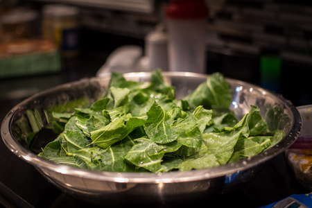 Greens in Bowl of Water