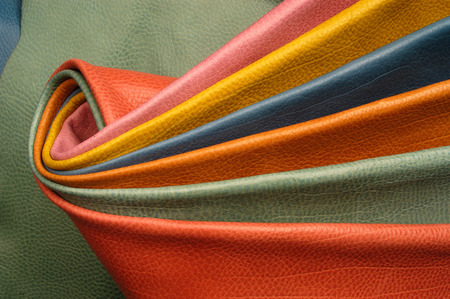 leather texture: colorful skins sample Stock Photo