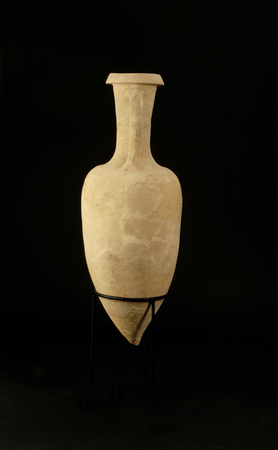 retail place: amphora isolated on black background, original