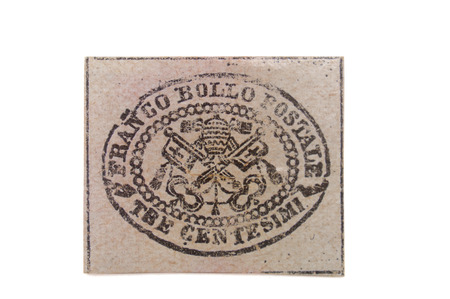 old stamp19th century new Vatican (without postmark)