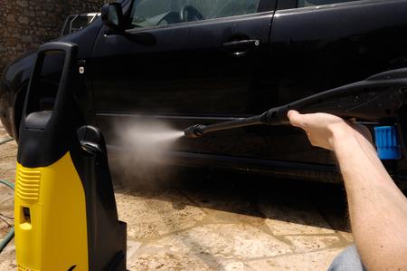 High Pressure Water Car Wash detail