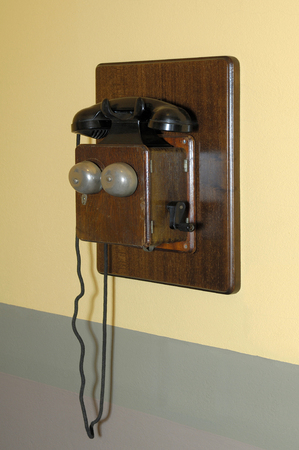 vintage telephone: vintage telephone S. XIX, for museum