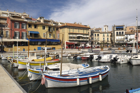 french riviera: Port of Cassis, French Riviera,