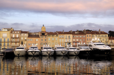 Harbor in Saint Tropez, French Riviera, France Banco de Imagens