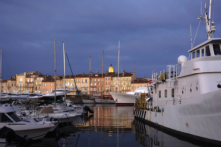 french riviera: Sunset in Saint Tropez, French Riviera, France