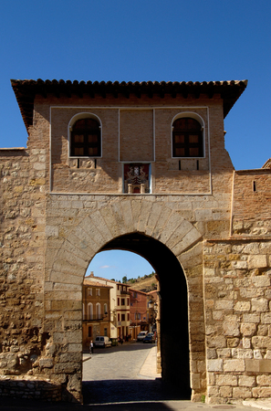 zaragoza: Door of Daroca, Zaragoza province, Spain Stock Photo