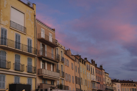 saint tropez: houses in the port of Saint Tropez, France