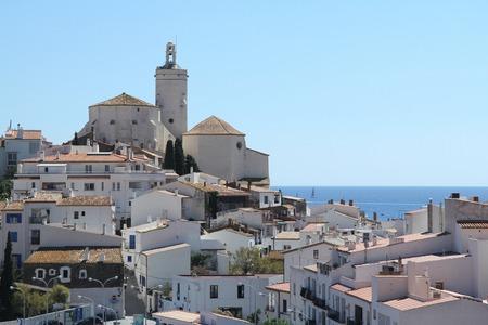 costa: view of Cadaques, Costa Brava, Girona, Spain,