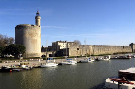 camargue: castle, of Aigues-Mortes, Camargue, France