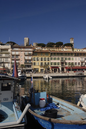 french riviera: Harbor of Cannes, French Riviera Editorial