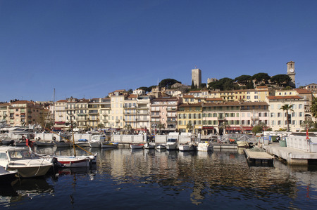 french riviera: Harbor of Cannes, French Riviera, France