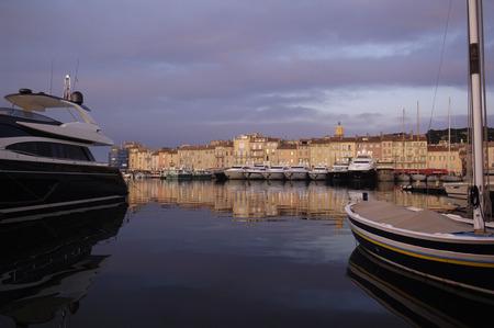 tropez: Sunset in Saint Tropez, Frech Riviera, France