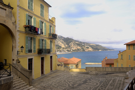 french riviera: View of Menton, French Riviera, Editorial