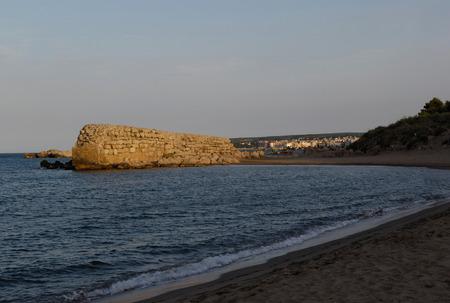 moll: Beach of   Moll Grec, Greek Port, Empuries, Girona