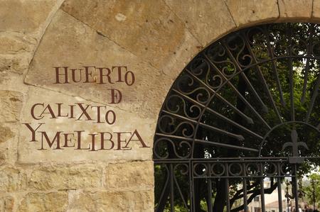 "tuinen, boomgaard, ""Calixto en Melibea"" van Salamanca, Castilla y Leon, Spanje"
