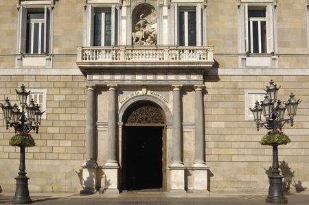 generalitat: Palau de la Generalitat, Government office address of Catalonia, Barcelona.