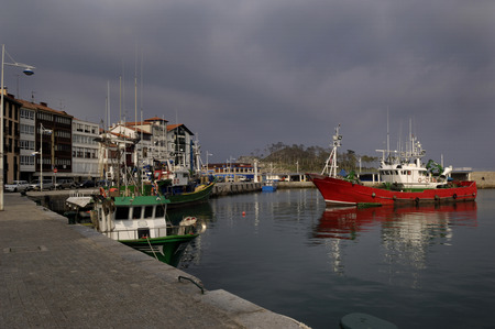 the basque country: port of Lekeito, Basque country, Spain (fishing Village)