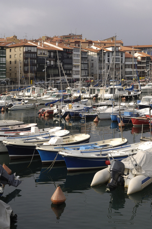 the basque country: port of Lekeito, Basque country, Spain, fisihing village,