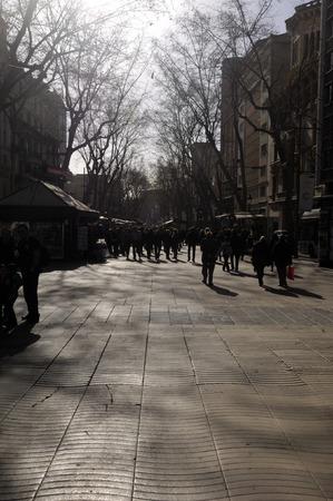 ramblas: Walking pepple in las ramblas barcelona