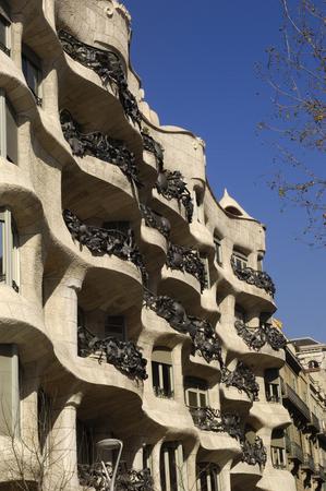 barcelona spain: Casa Mila, La Pedrera, Barcelona, Spain