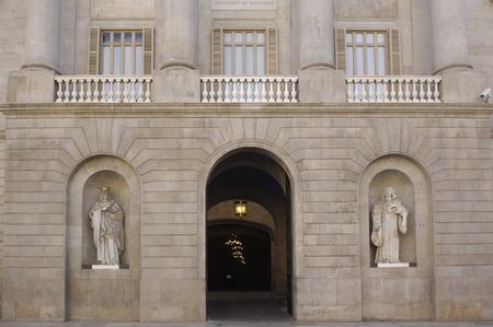 barcelona spain: Town Hall, Facade, Barcelona,