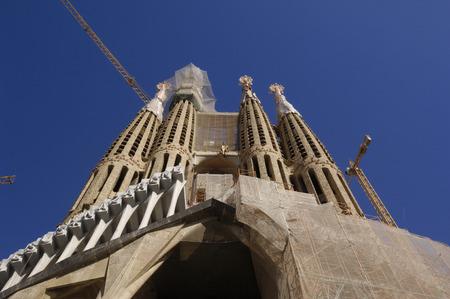 familia: Facada Sagrada Familia, Barcelona Spain