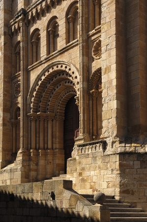 zamora: Bishop door, Cathedral, Zamora, Spain