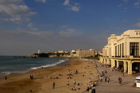 plage: Promenade on the Grand Plage, Beach, Biarritz, Aquitaine, France