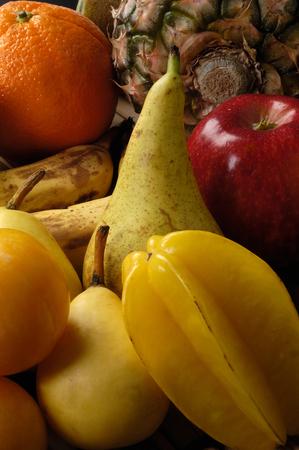 dim light: Group of different fruit , dim light, Editorial