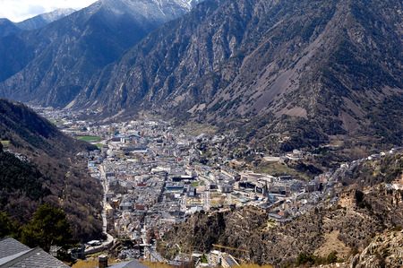 tourism in andorra: Andorra la Vella, Andorra, the country of the Pyrenees Stock Photo