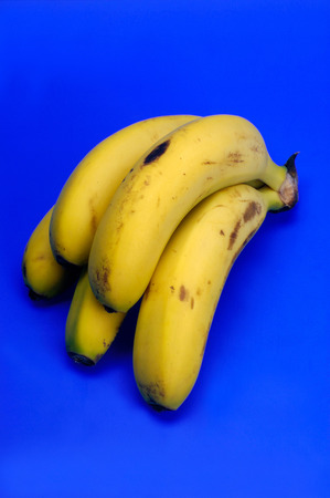 canarias: Banana isolated on blue background, fruit, blur, canarias