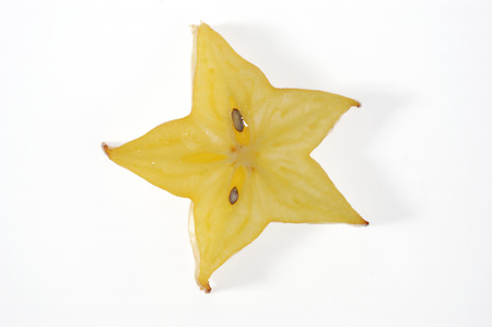 sectioned: sectioned and white fruit, star fruit
