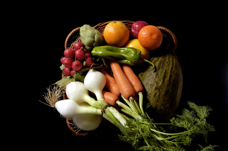 mandarina: vegetables and fruits Stock Photo