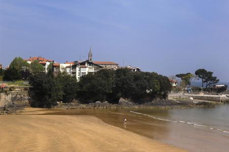 beack: Mundaka Beack, Basque Country, Spain Stock Photo