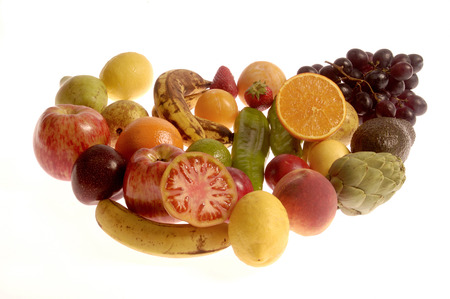 pummelo: fruits and vegetables with white background