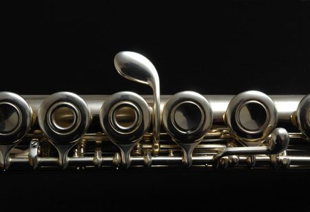 color photography: Close up details of clarinet. Color photography.